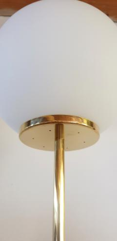 Pair of large Mid Century Modern marble brass glass floor lamps Italy 1960s - 1070929