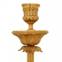 Pair of large gilt bronze and marble candelabra - 1243274