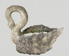 Pair of large planters Swan in cement - 2051367
