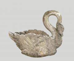 Pair of large planters Swan in cement - 2051375