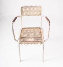 Pair of mid century 1950s Mategot style metal armchairs - 847775