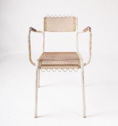 Pair of mid century 1950s Mategot style metal armchairs - 847776