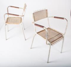 Pair of mid century 1950s Mategot style metal armchairs - 847777