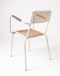 Pair of mid century 1950s Mategot style metal armchairs - 847778