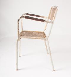 Pair of mid century 1950s Mategot style metal armchairs - 847780