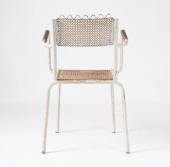 Pair of mid century 1950s Mategot style metal armchairs - 847781