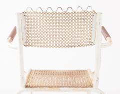 Pair of mid century 1950s Mategot style metal armchairs - 847783