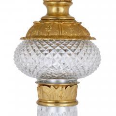 Pair of monumental gilt bronze and glass floor standing candelabra - 2013569
