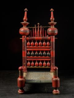 Pair of old Punjabi hand crafted wooden tribal Wedding Chairs - 1866991