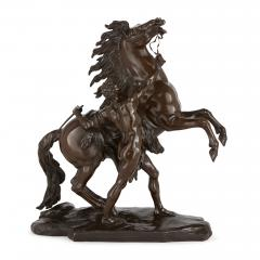 Pair of patinated bronze antique models of the Marly horses - 2003883