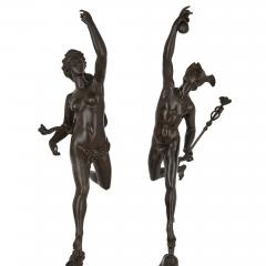 Pair of patinated bronze sculptures after Giambologna - 1907370