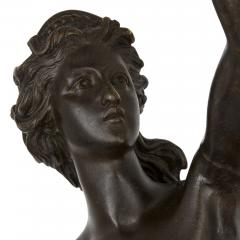 Pair of patinated bronze sculptures after Giambologna - 1907373