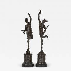Pair of patinated bronze sculptures after Giambologna - 1907962