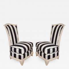 Pair of petite slipper chairs - 1165362