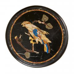 Pair of pietra dura topped circular occasional tables - 1626918