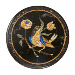 Pair of pietra dura topped circular occasional tables - 1626919