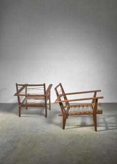 Pair of rope deck chairs - 1300623