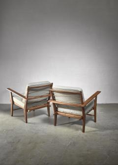 Pair of rope deck chairs - 1300624