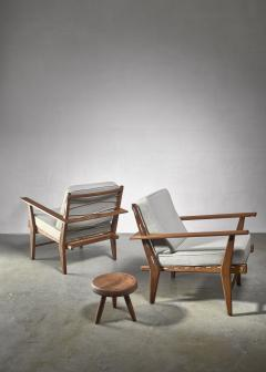 Pair of rope deck chairs - 1300625