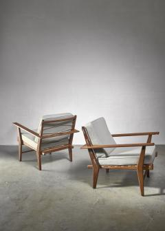 Pair of rope deck chairs - 1300626