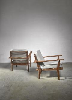 Pair of rope deck chairs - 1300627