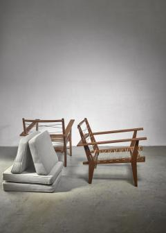 Pair of rope deck chairs - 1300628