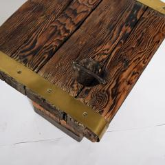 Pair of rustic side tables made of raw hatch boards - 1484954