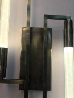 Pair of sconces in the style of Jacques ADNET - 1034728