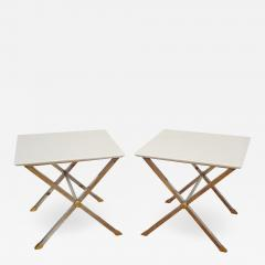 Pair of square coffee tables Italy 1975  - 1080476