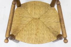 Pair of straw armchairs in natural beech 1950s - 2065221
