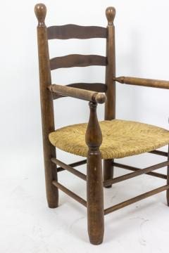 Pair of straw armchairs in natural beech 1950s - 2065222