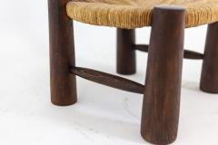 Pair of straw chairs 1940s - 2065155