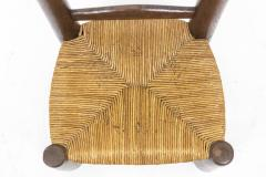 Pair of straw chairs 1940s - 2065187