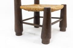 Pair of straw chairs 1940s - 2065196