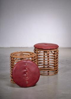 Pair of wicker stools Italy - 1965544