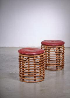 Pair of wicker stools Italy - 1965545
