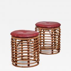 Pair of wicker stools Italy - 1966317