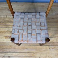 Palle Suenson 1940s Palle Suenson Leather Strap Chair for Holger Knak Jensen - 1341353