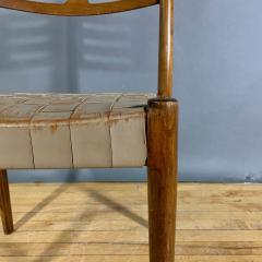 Palle Suenson 1940s Palle Suenson Leather Strap Chair for Holger Knak Jensen - 1341355