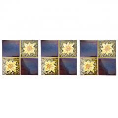 Panel of 9 Glazed Art Deco Relief Tiles by S A Des Pavillions 1930s - 1298716