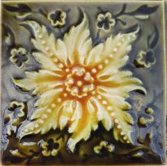 Panel of 9 Glazed Art Deco Relief Tiles by S A Des Pavillions 1930s - 1298718