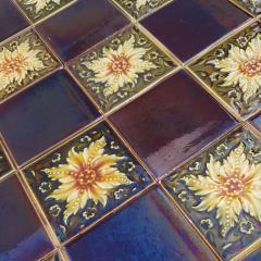 Panel of 9 Glazed Art Deco Relief Tiles by S A Des Pavillions 1930s - 1298720