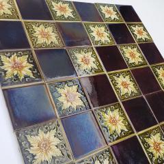 Panel of 9 Glazed Art Deco Relief Tiles by S A Des Pavillions 1930s - 1298721