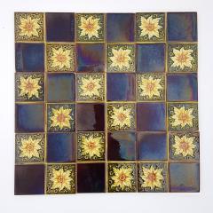 Panel of 9 Glazed Art Deco Relief Tiles by S A Des Pavillions 1930s - 1298722
