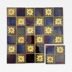 Panel of 9 Glazed Art Deco Relief Tiles by S A Des Pavillions 1930s - 1307446