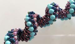 Paola B Murano glass beads hand made blue and purple neklace - 979726