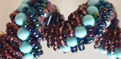 Paola B Murano glass beads hand made blue and purple neklace - 979740