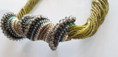 Paola B Murano glass beads hand made costume necklace by artist Paola B  - 986599