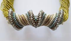 Paola B Murano glass beads hand made costume necklace by artist Paola B  - 986600