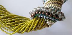 Paola B Murano glass beads hand made costume necklace by artist Paola B  - 986602